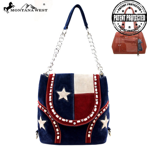 TX08-8105 Montana West Texas Pride Collection Handbag