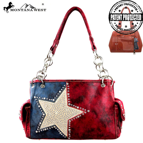 TX15G-8085 Montana West Texas Pride Concealed Handgun Collection Satchel