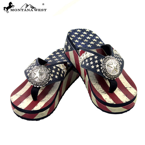 259f680e5 US01-S089 Montana West American Pride Collection Pride Flip Flops By Case