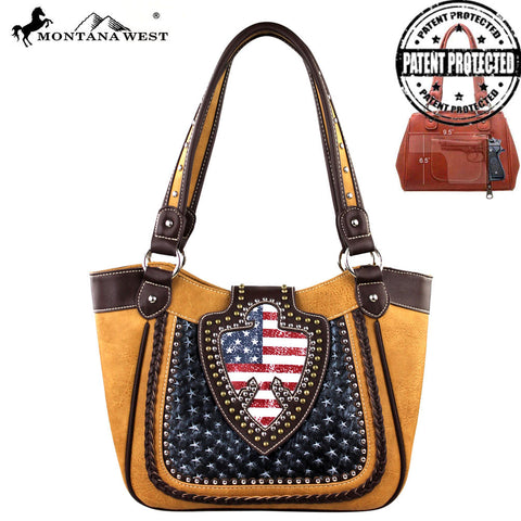 US03G-8005 Montana West American Pride Concealed Handgun Collection Handbag