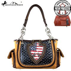 US03G-8085 Montana West American Pride Collection Concealed Carry Satchel