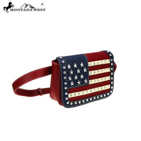 US04-810 American Pride Collection Waist Fanny Pack/Belt Bag