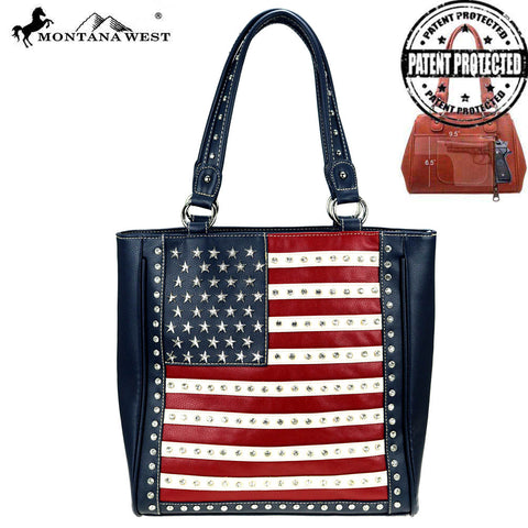 01884751bef US04G-8113 Montana West American Pride Concealed Handgun Collection Tote