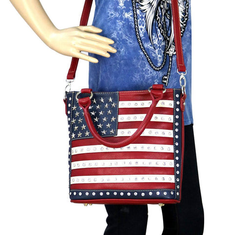 7788f54b25a US04G-8461 Montana West American Pride Concealed Carry Tote Crossbody