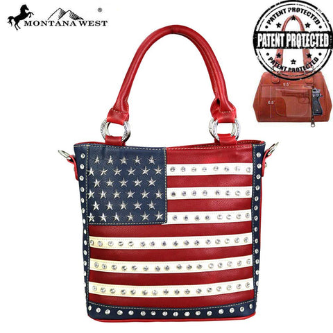 5ce3e6a608f7 US04G-8461 Montana West American Pride Concealed Carry Tote Crossbody