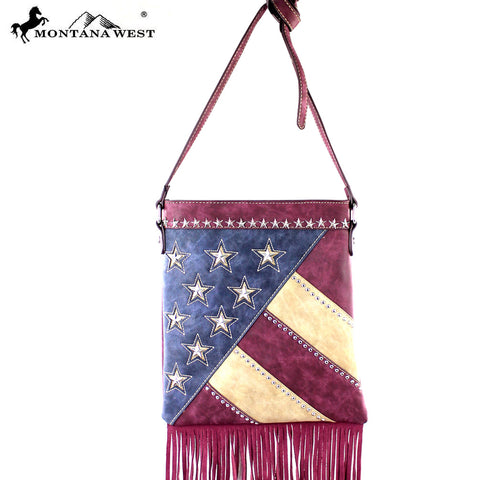 US08-8287 Montana West America Pride Fringe Crossbody