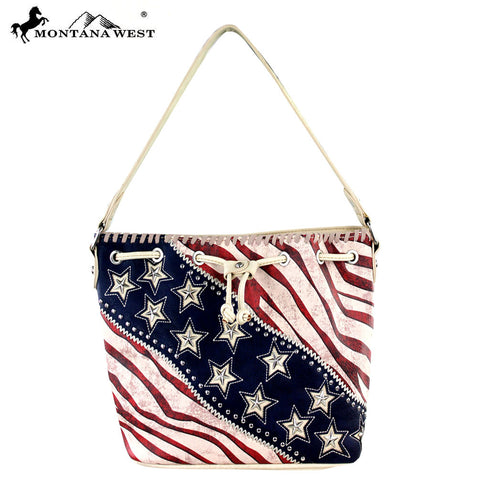 US12-8109 Montana West American Pride Collection Hobo Bag