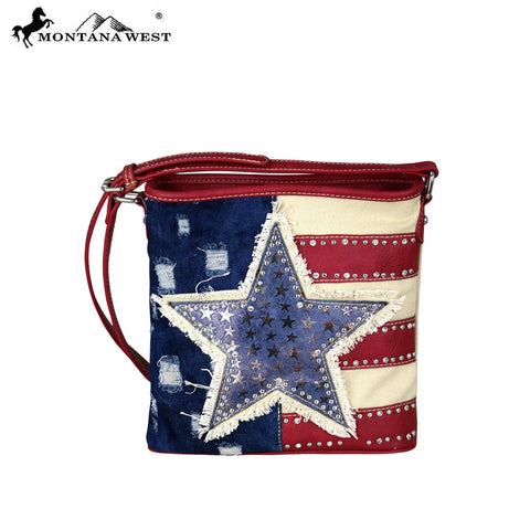 US17-8360 Montana West American Pride Crossbody Bag