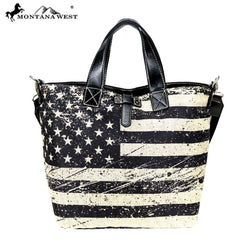 US21-8461  Montana West American Pride Collection Reversible Tote/Shoulder Bag