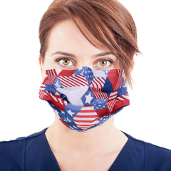 USFM-01RD American Bling 20PCS/Box  American Flag Colors Print Disposable Face Masks 3 Layers Face Masks (Non-Medical)