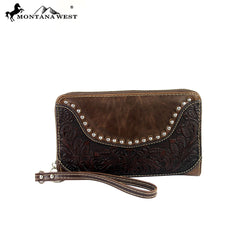 WRL-W003 Montana West Tooling Collection Wallet/Wristlet