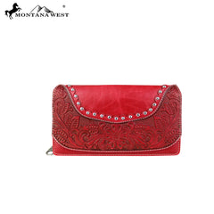 WRL-W010  Montana West Tooling Collection Secretary Style Wallet