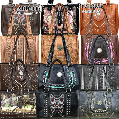 ABD-003  American Bling  Dual Sided (Right & Left Handed Carriers) Concealed Handgun Tote  Pre-pack 12Pcs/Set