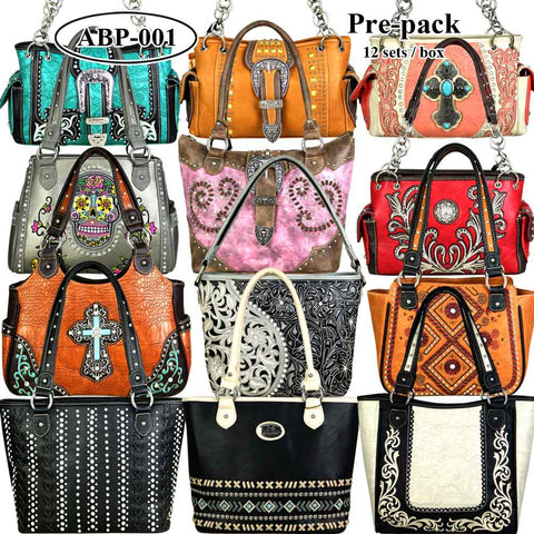 ABP-01 American Bling  Pre-pack Phone Charging Handbag (12pcs Assorted Style)