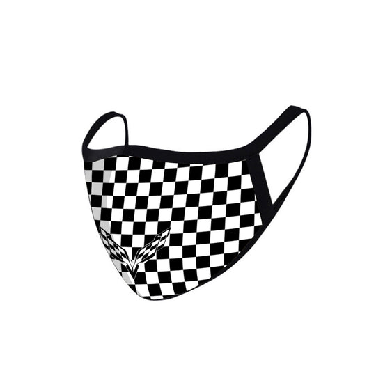 FCM-013 Checkered Fabric Face Mask Double Layer Set of 2
