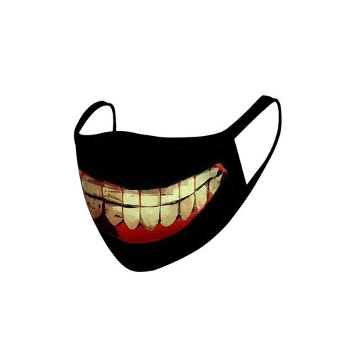FCM-011   Smiling Teeth Fabric Face Mask Double Layer Set of 2