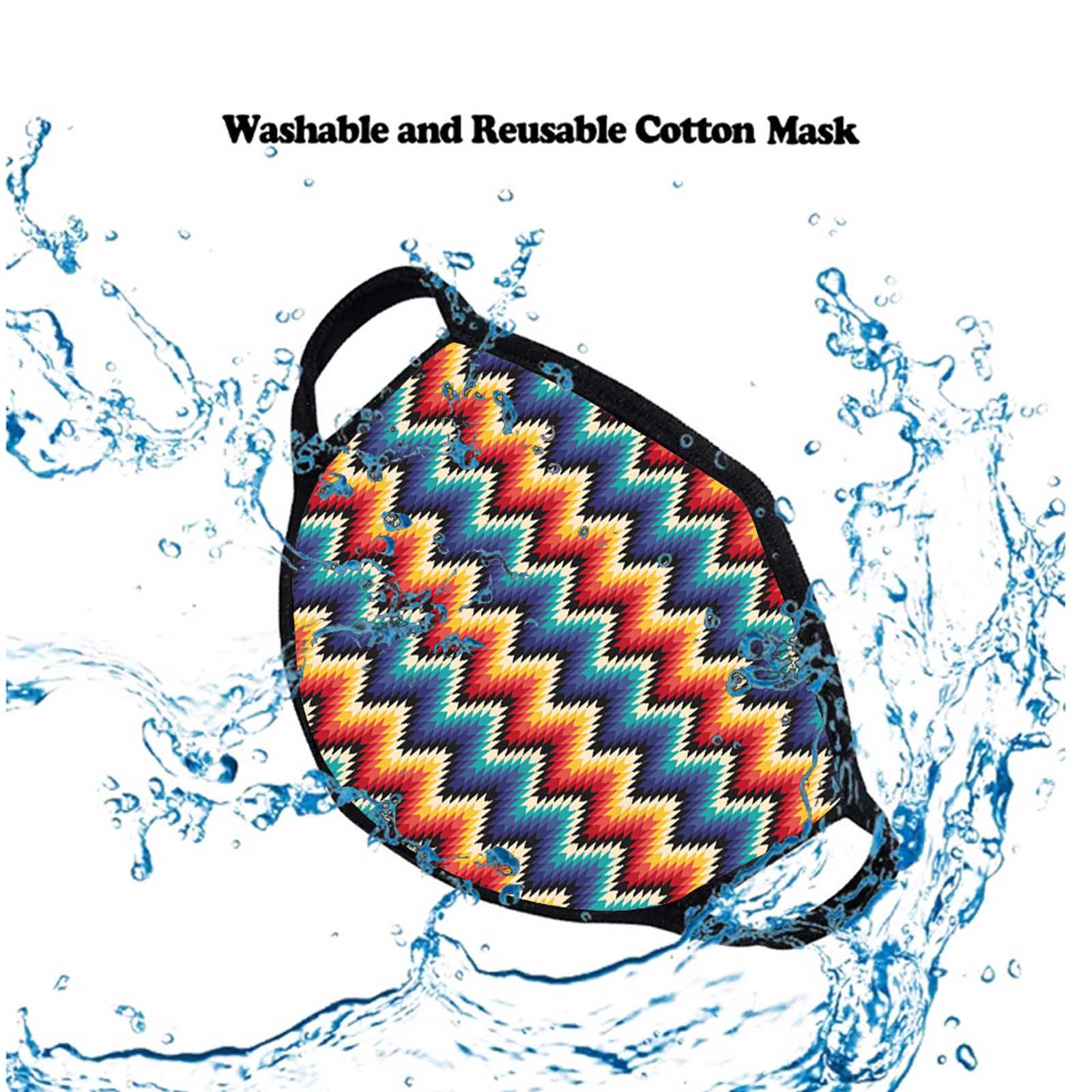 FCM-007 Serape Print Fabric Face Mask Double Layer Set of 2