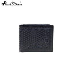 BR-204 Genuine Tooled Leather Collection Men's Wallet