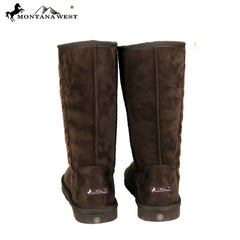 BST-030 Montana West Studs Collection Boots  Coffee