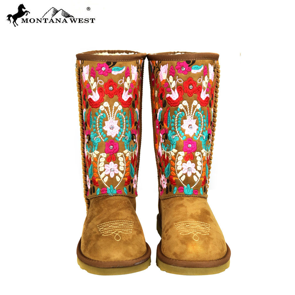 BST 034 Montana West EmbroideROT Collection Stiefel Stiefel Stiefel Coffee – MONTANA ... 40c62a