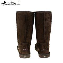 BST-037 Montana West Studs Collection Boots Brown
