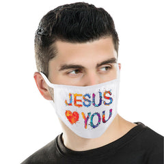 FCM-012  American Bling Spiritual Fabric Face Mask Double Layer Set of 2