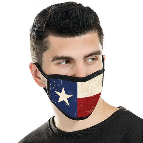FCM-016 Texas Flag Fabric Face Mask Double Layer Set of 2