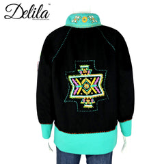 FS-605 Delila Hand Embroidered Fleece Jacket Aztec Collection