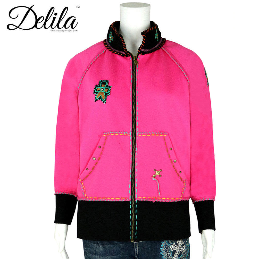 ... FS-609 Delila Hand Embroidered Fleece Jacket Longhorn Collection