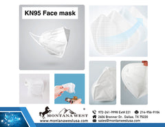 1 PC American Bling KN95 Disposable Folding Protective Cover Masks (Non-Medical)