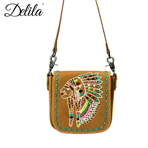 LEA08-503 Delila 100% Genuine Leather Crossbody