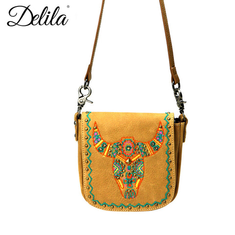 LEA10-503 Delila 100% Genuine Leather Crossbody