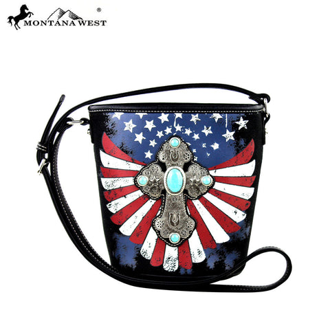 MW257-8287 Montana West Spiritual/Patriotic Collection Crossbody Handbag