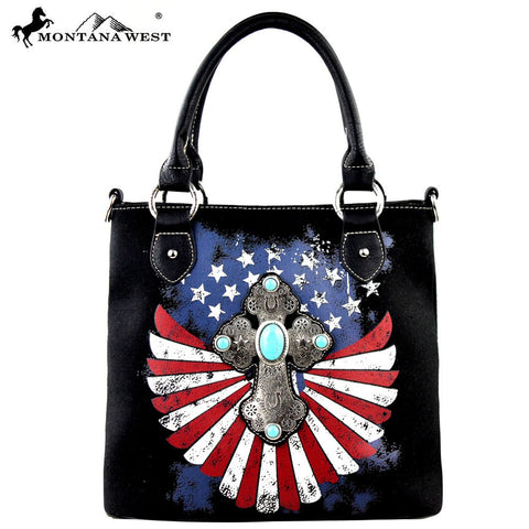 MW257-8461 Montana West Spiritual/Patriotic Collection Tote/Crossbody