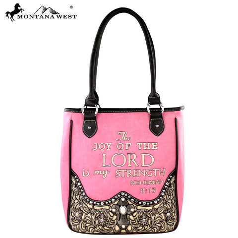 MW287-8349 Montana West Scripture Bible Verse Collection Handbag