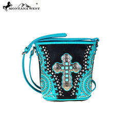 MW412-8296 Montana West Spiritual Collection Bucket Shape Crossbody Bag
