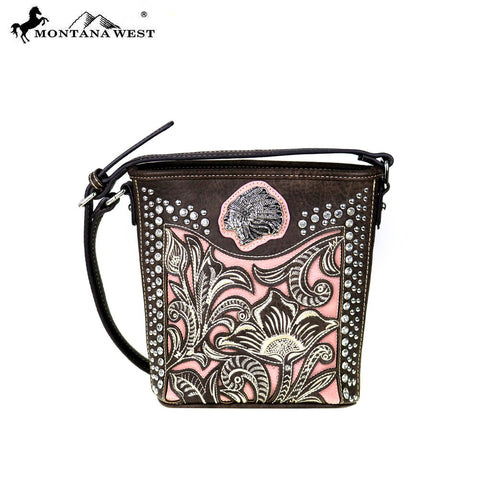MW425-8296  Montana West  Native American Collection Bucket Shape Crossbody