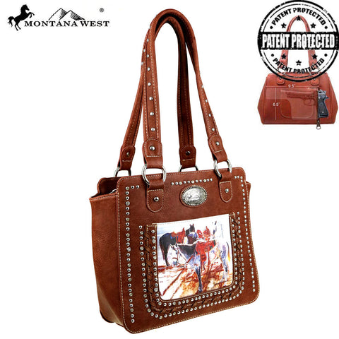 MW427G-8250  Montana West Horse Art Concealed Handgun Tote - Janene Grende Collection