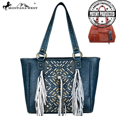MW440G-8014 Montana West Fringe Collection Concealed Handgun Collection Tote