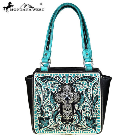 MW467-8250  Montana West Spiritual Collection Trapezoid Tote