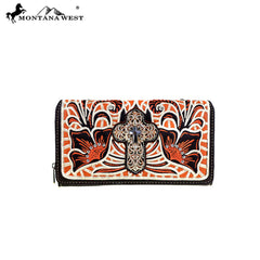 MW467-W010 Montana West Spiritual Collection Secretary Style Wallet