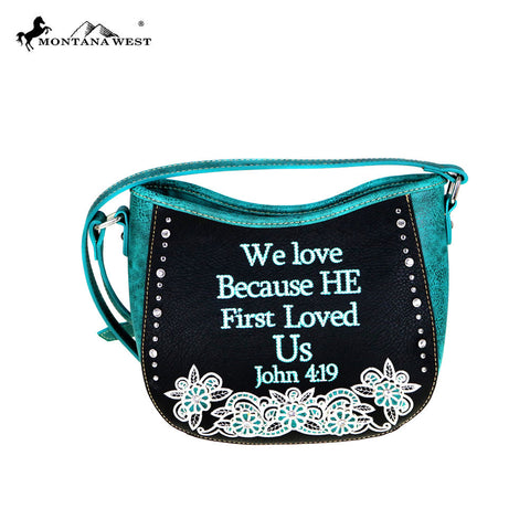 MW477-8360 Montana West Scripture Bible Verse Collection Handbag
