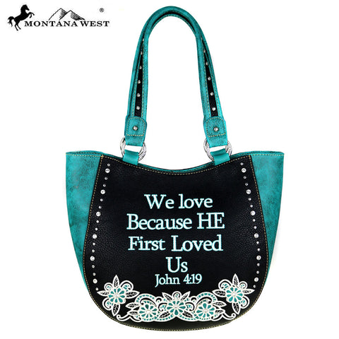 MW477-8573 Montana West Scripture Bible Verse Collection Tote