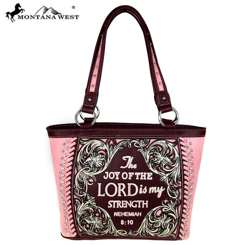 MW478-8317 Montana West Scripture Bible Verse Collection Tote