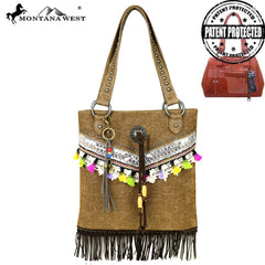 MW488G-121 Montana West Fringe Collection Concealed Handgun Tote