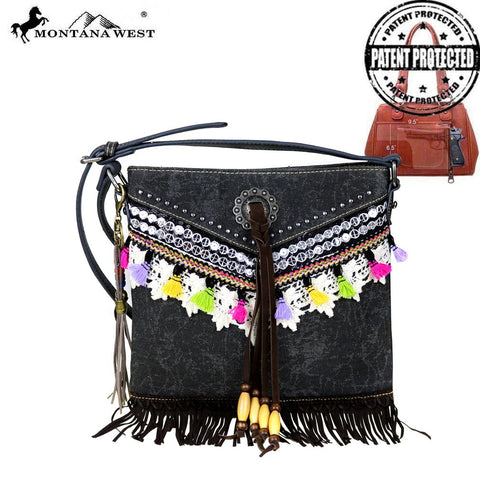 MW488G-8287 Montana West Fringe Collection Concealed Handgun Crossbody