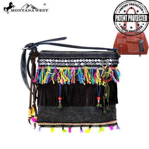 MW489G-8287 Montana West Fringe Collection Concealed Handgun Crossbody