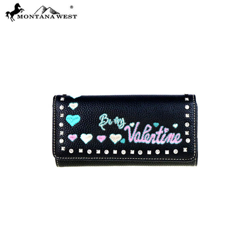 "MW504-W002 Montana West Heart Collection "" Be My Valentine"" Wallet"