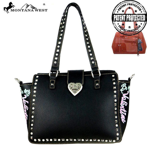 "MW504G-8250 Montana West Heart Collection ""Be My Valentine""Concealed Handgun Trapezoid Tote"