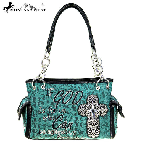 MW515-8085  Montana West Scripture BibleCollection Satchel Bag